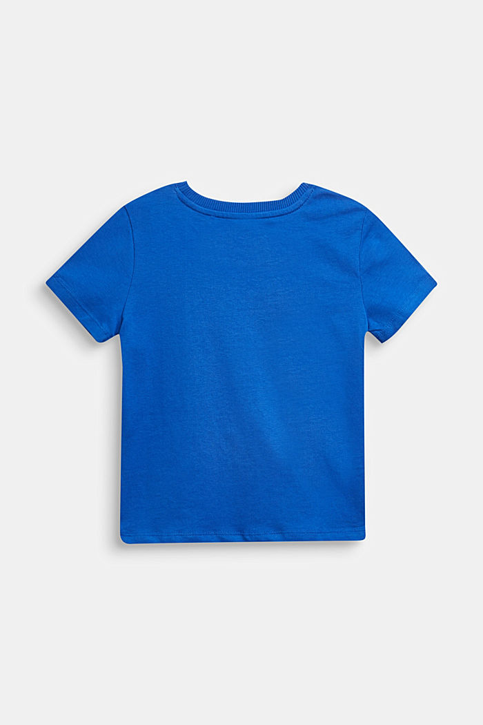 Logo T-shirt, 100% cotton, BRIGHT BLUE, detail image number 1