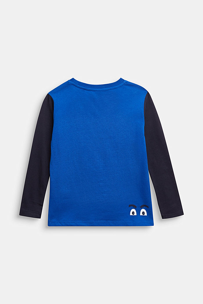 Long sleeve top made of 100% cotton, BRIGHT BLUE, detail image number 1
