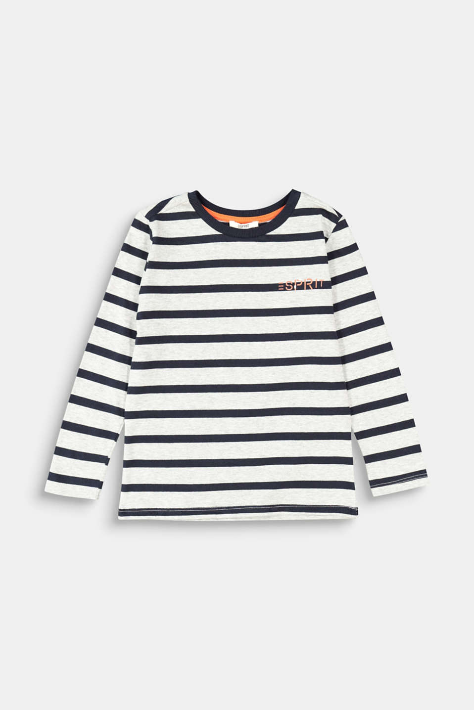 Esprit - Striped long sleeve top, 100% cotton