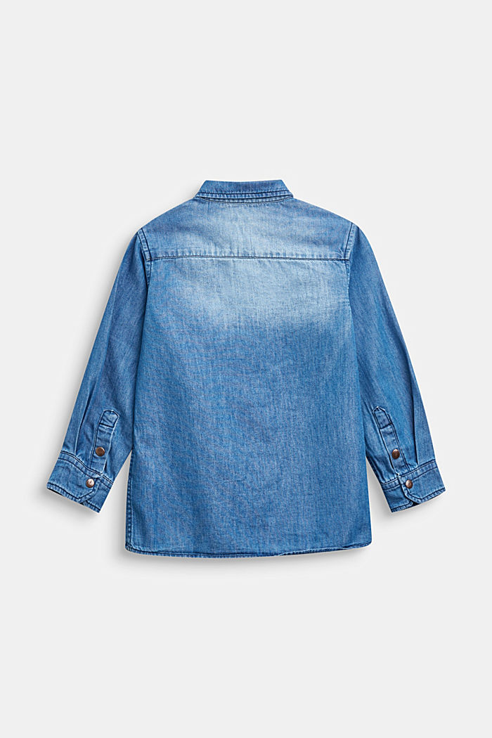 Jeans-Hemd aus Baumwolle-Lyocell