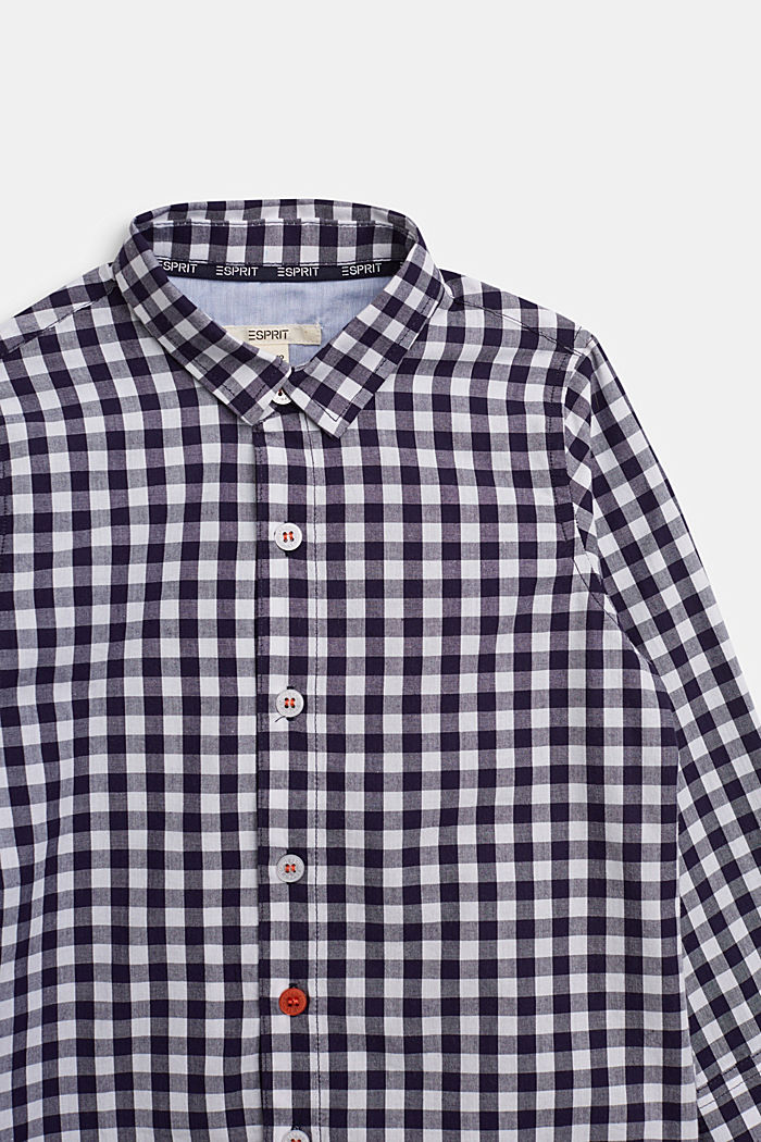 Check shirt in 100% cotton, NAVY, detail image number 2
