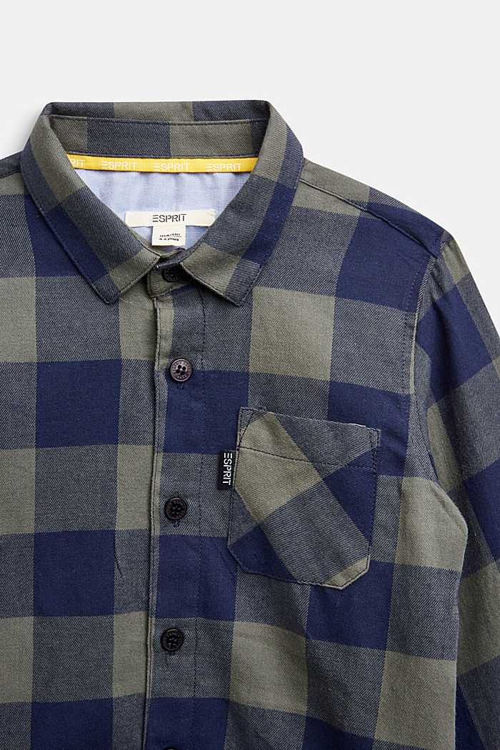Checked flannel shirt, 100% cotton, DUSTY GREEN, detail image number 2