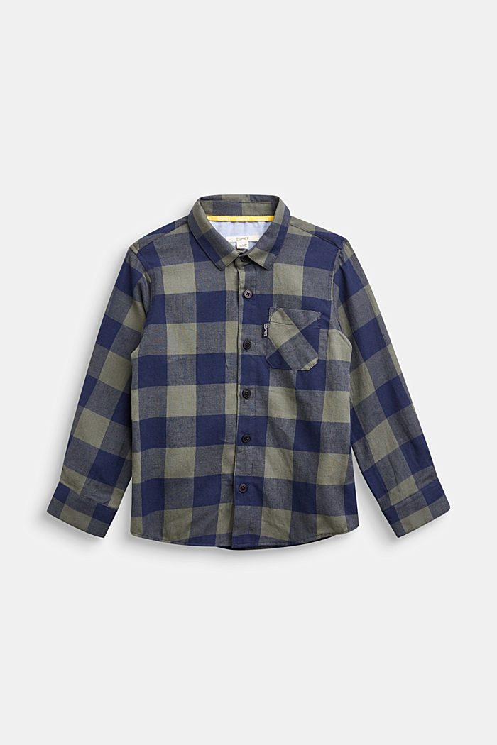 Kariertes Flanell-Hemd, 100% Baumwolle