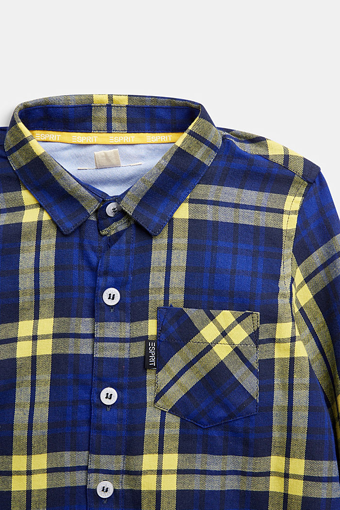 Check flannel shirt, 100% cotton, BRIGHT BLUE, detail image number 2