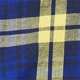 Check flannel shirt, 100% cotton, BRIGHT BLUE, swatch