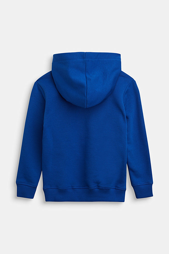 Hoodie in 100% cotton, BRIGHT BLUE, detail image number 1