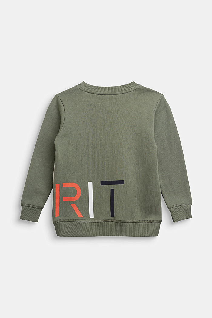 Print-Sweatshirt aus 100% Baumwolle, MEDIUM GREY, detail image number 1