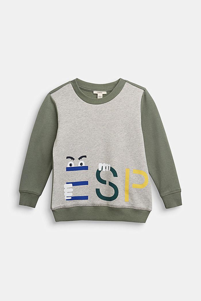 Print-Sweatshirt aus 100% Baumwolle, MEDIUM GREY, detail image number 0