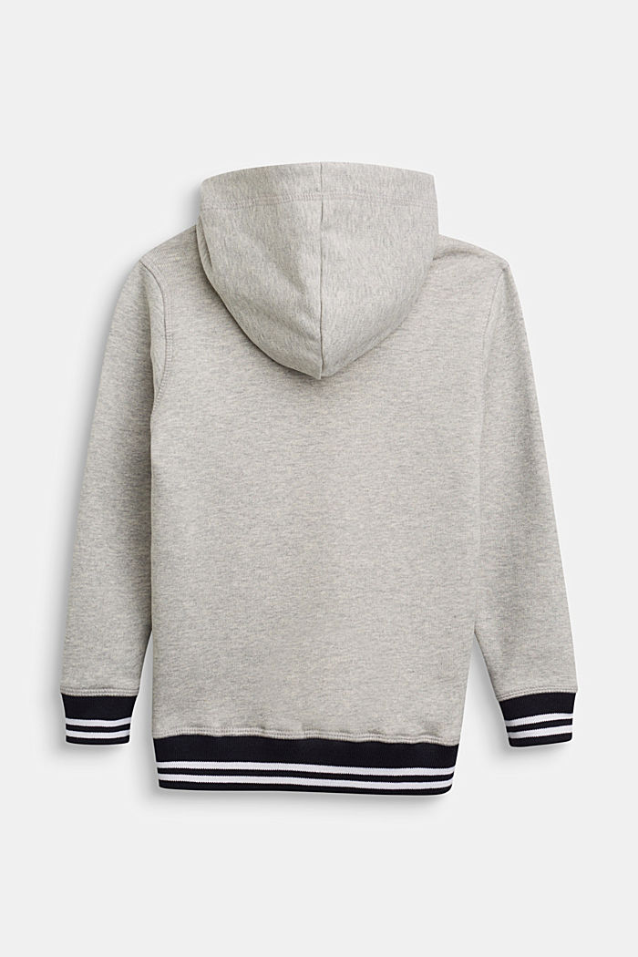 Melange hoodie in 100% cotton, MEDIUM GREY, detail image number 1