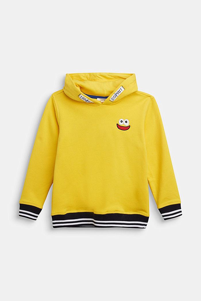 Melange hoodie in 100% cotton