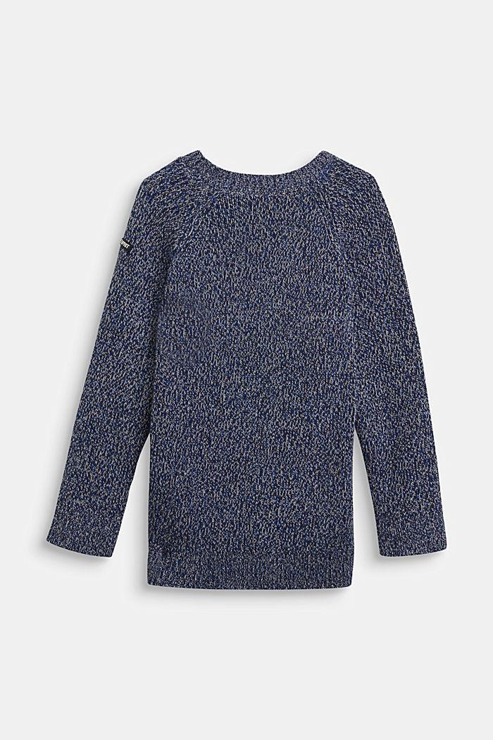 Meleret sweater af 100% bomuld