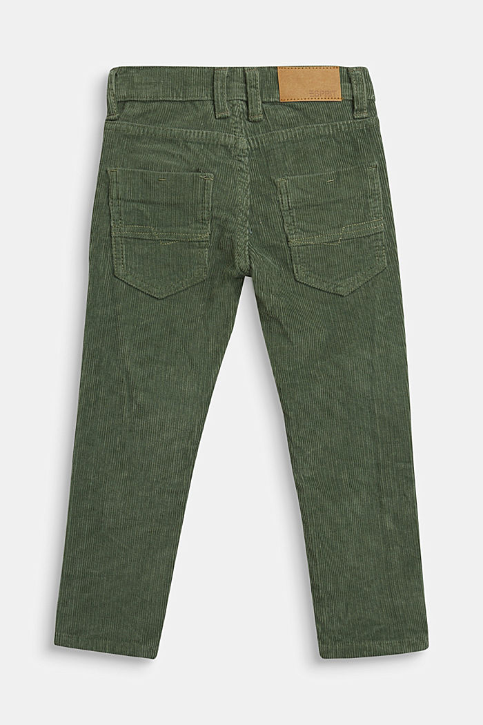 Cord trousers with an adjustable waistband, DUSTY GREEN, detail image number 2