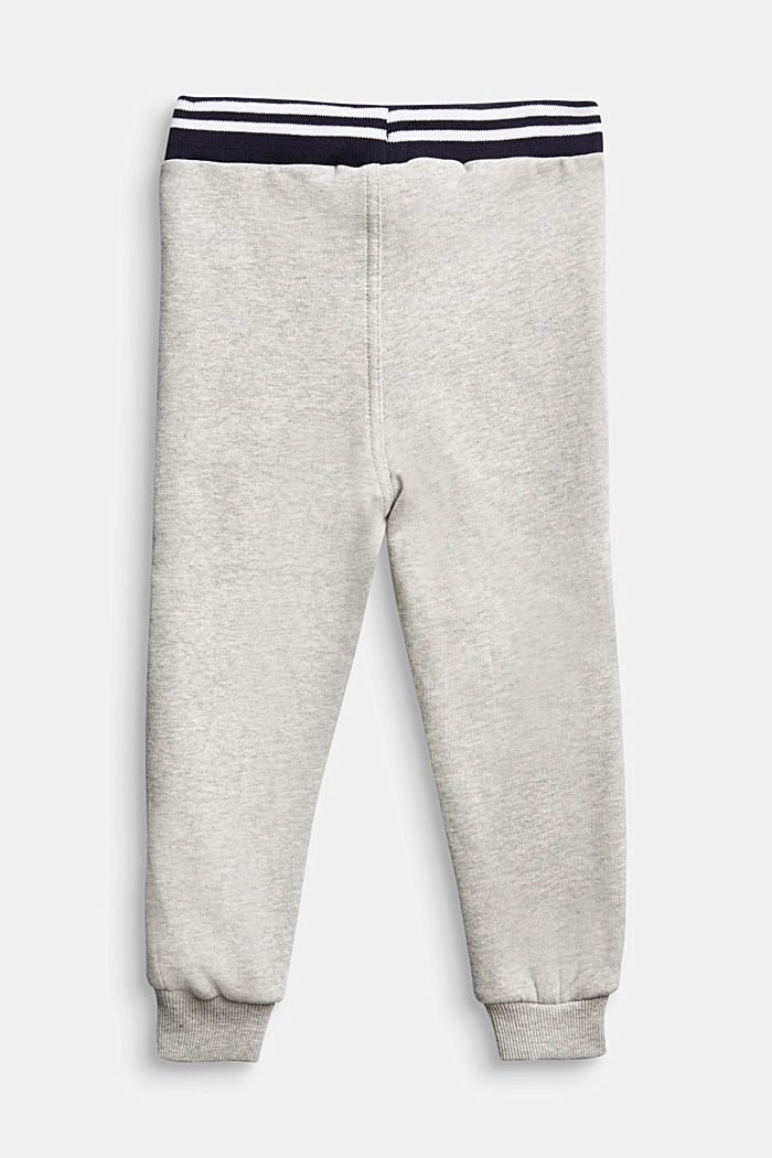 Tracksuit bottoms in 100% cotton, MEDIUM GREY, detail image number 1