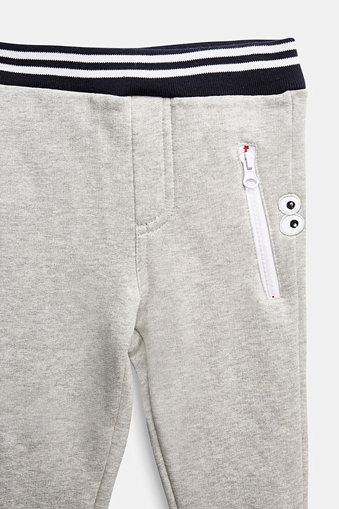 Tracksuit bottoms in 100% cotton, MEDIUM GREY, detail image number 2