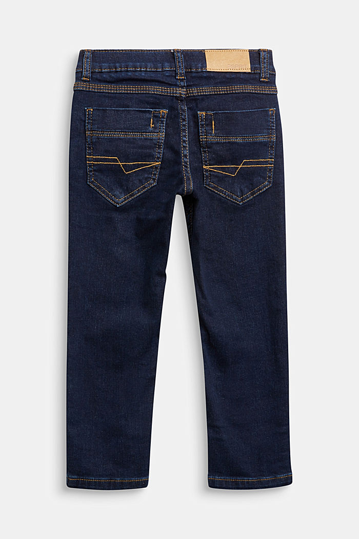 Purely styled stretch jeans with an adjustable waistband, BLUE RINSE, detail image number 1