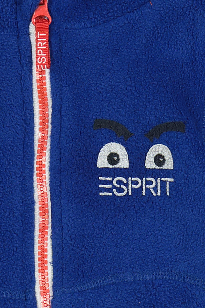 Fleece-Jacke mit Monster-Print, BRIGHT BLUE, detail image number 2