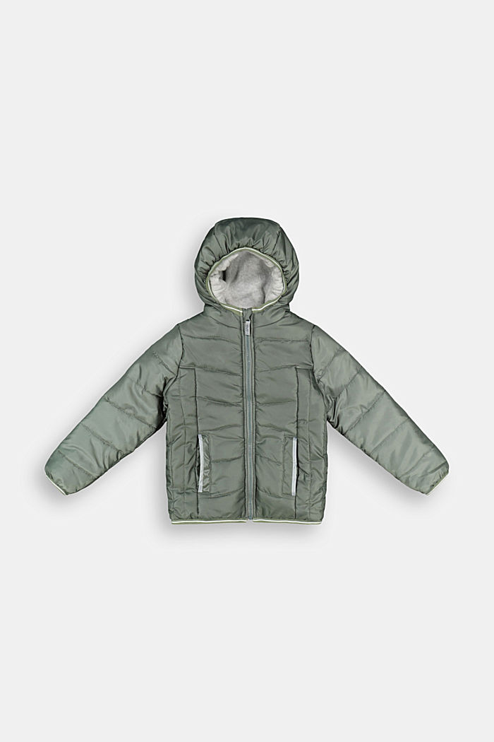 Wattierter Steppjacke mit Feecefutter, DUSTY GREEN, detail image number 0
