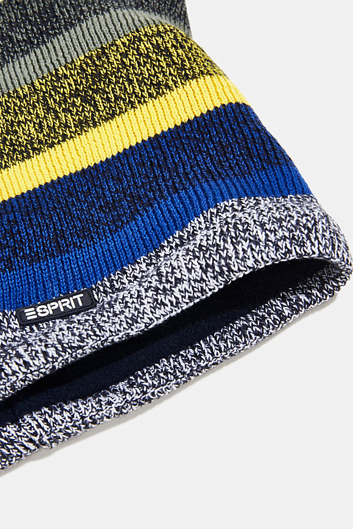 Snood in blended cotton, NAVY, detail image number 1
