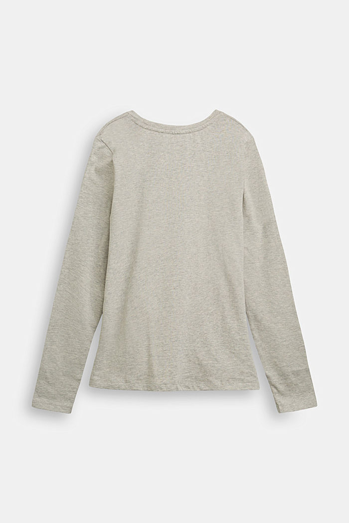 Draped long sleeve top, 100% cotton