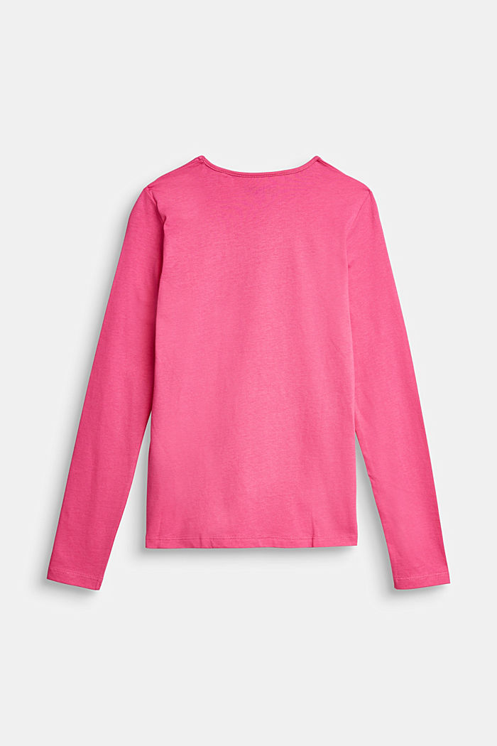 Longsleeve mit Glanz-Print, 100% Baumwolle, PINK, detail image number 1