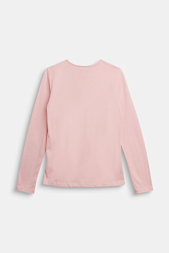 Long sleeve top made of 100% cotton, LIGHT PINK, detail image number 1