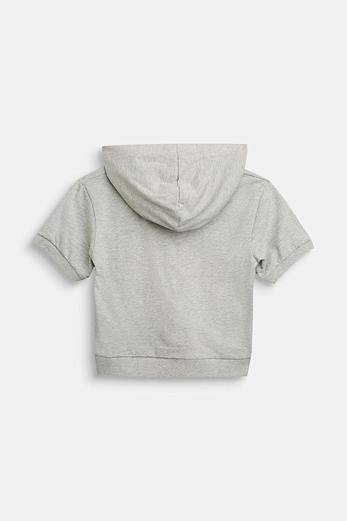 Kapuzen-Shirt aus 100% Baumwolle, MEDIUM GREY, detail image number 1