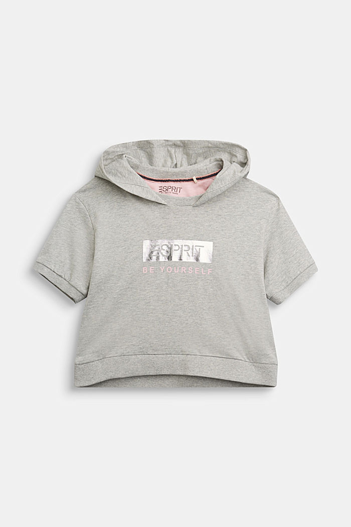Hooded top in 100% cotton