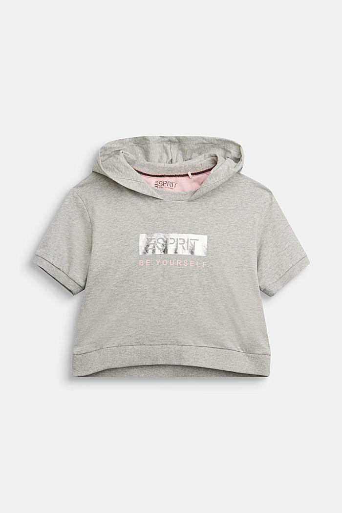 Kapuzen-Shirt aus 100% Baumwolle, MEDIUM GREY, detail image number 0