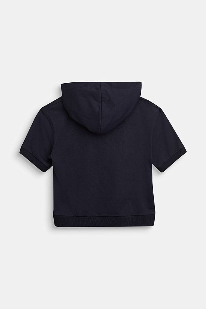 Hooded top in 100% cotton, NAVY, detail image number 1