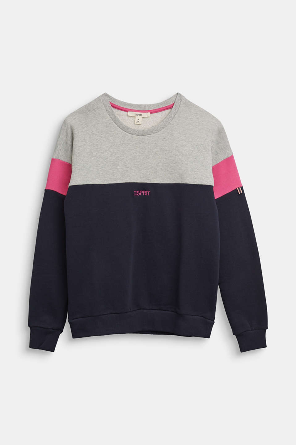 Esprit - Sweat-shirt d'aspect color block en pur coton