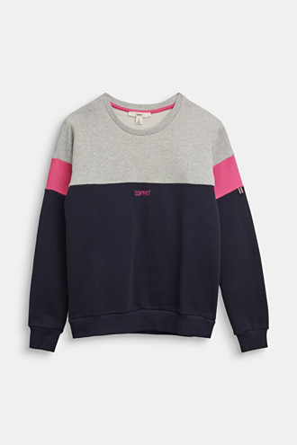 Colour block sweatshirt in 100% cotton
