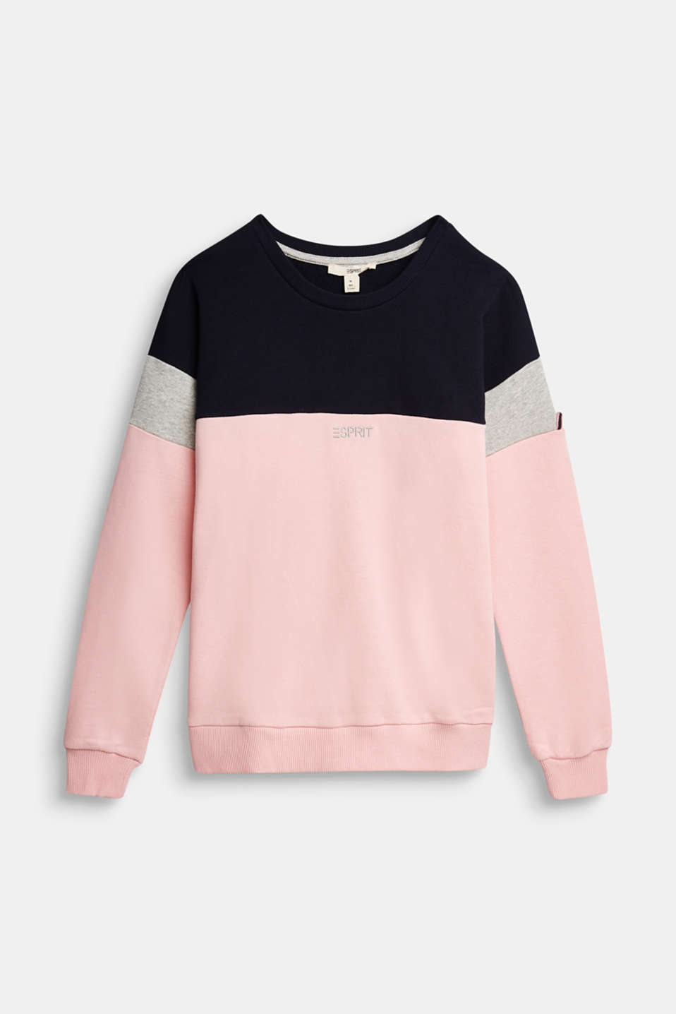 Esprit - Color Block-Sweatshirt aus 100% Baumwolle