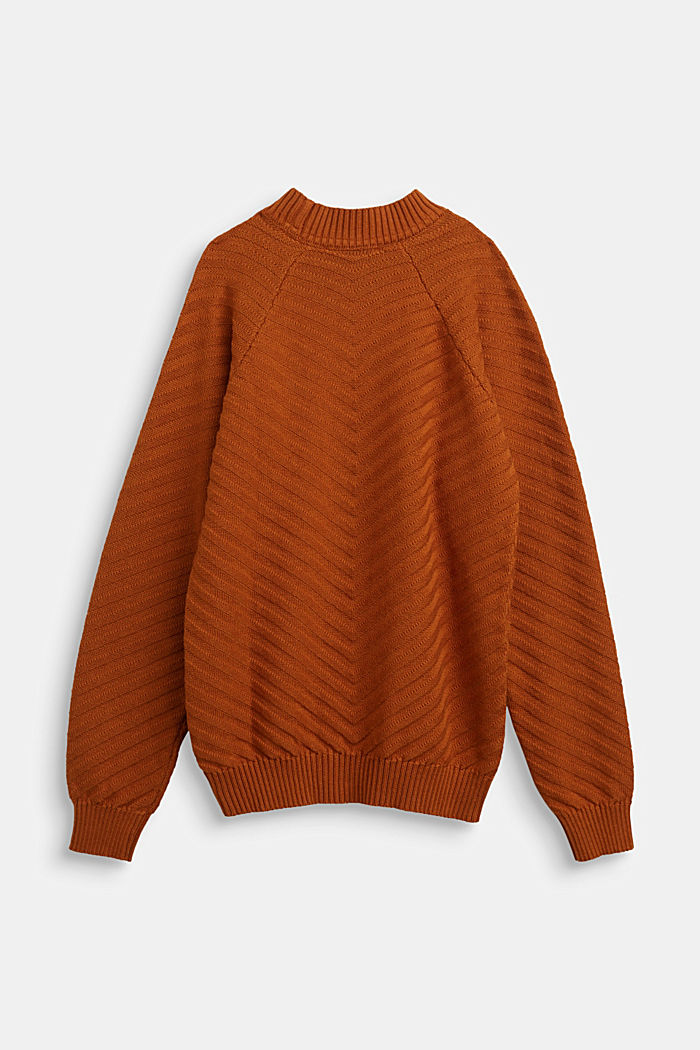 Crewneck jumper with texture