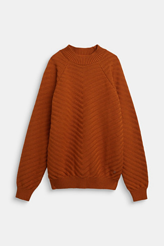 Crewneck jumper with texture