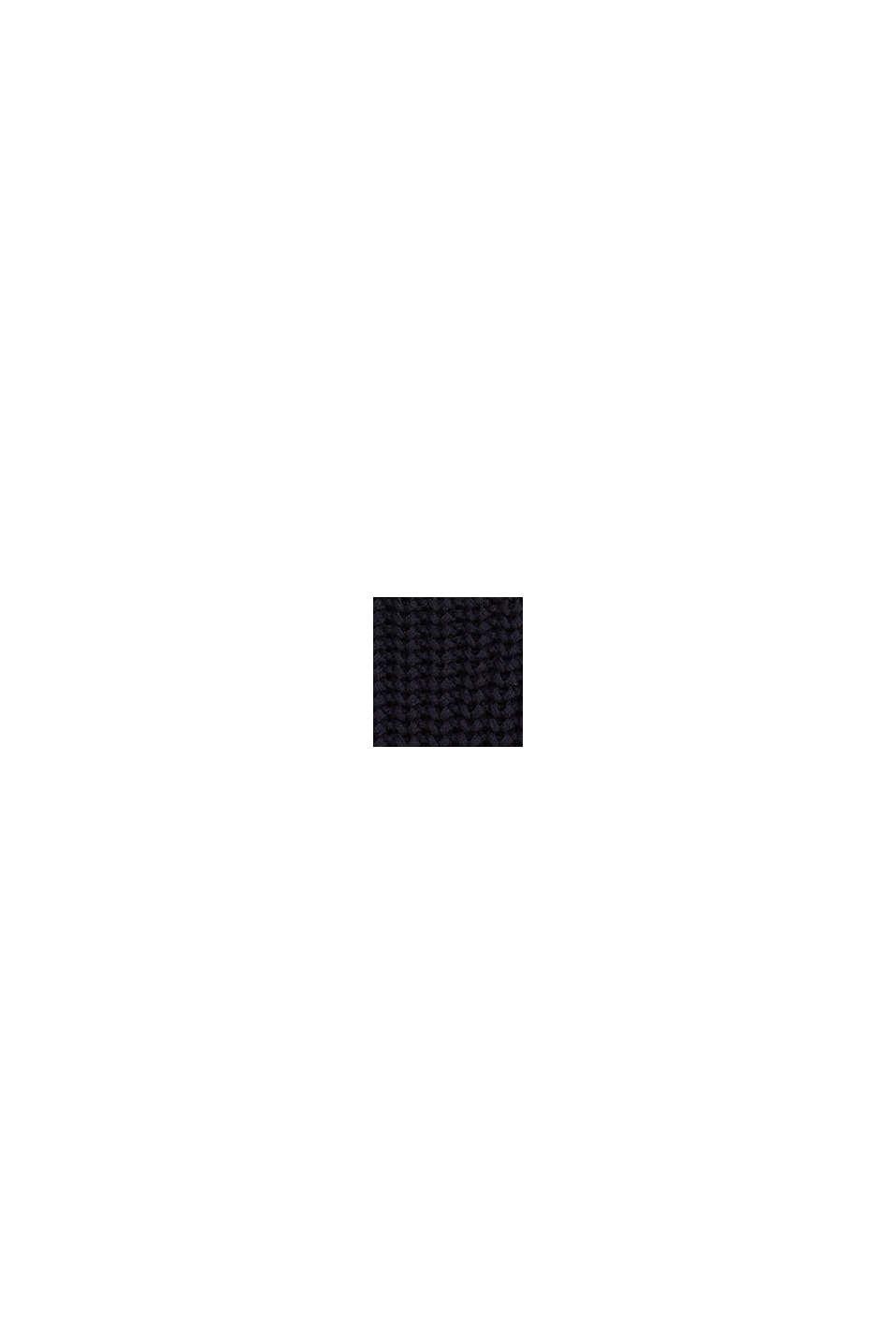 Gestreepte trui van een katoenmix, NAVY, swatch