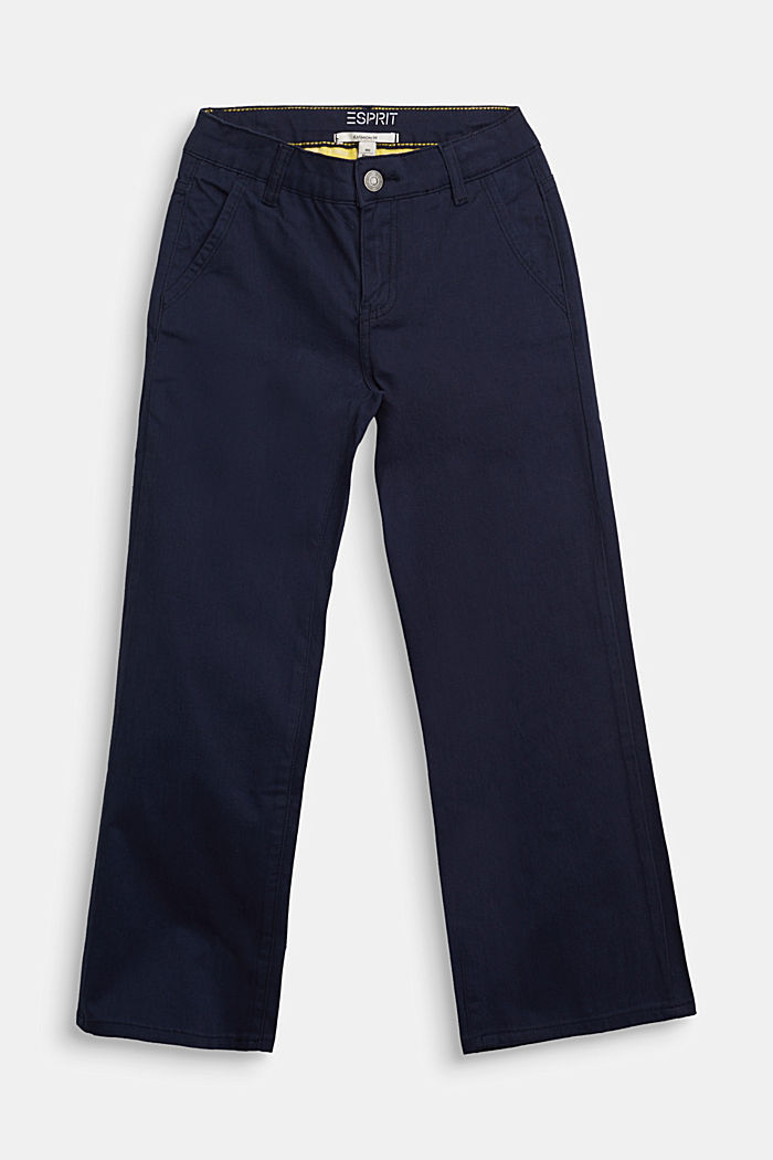 Wide trousers in stretch cotton