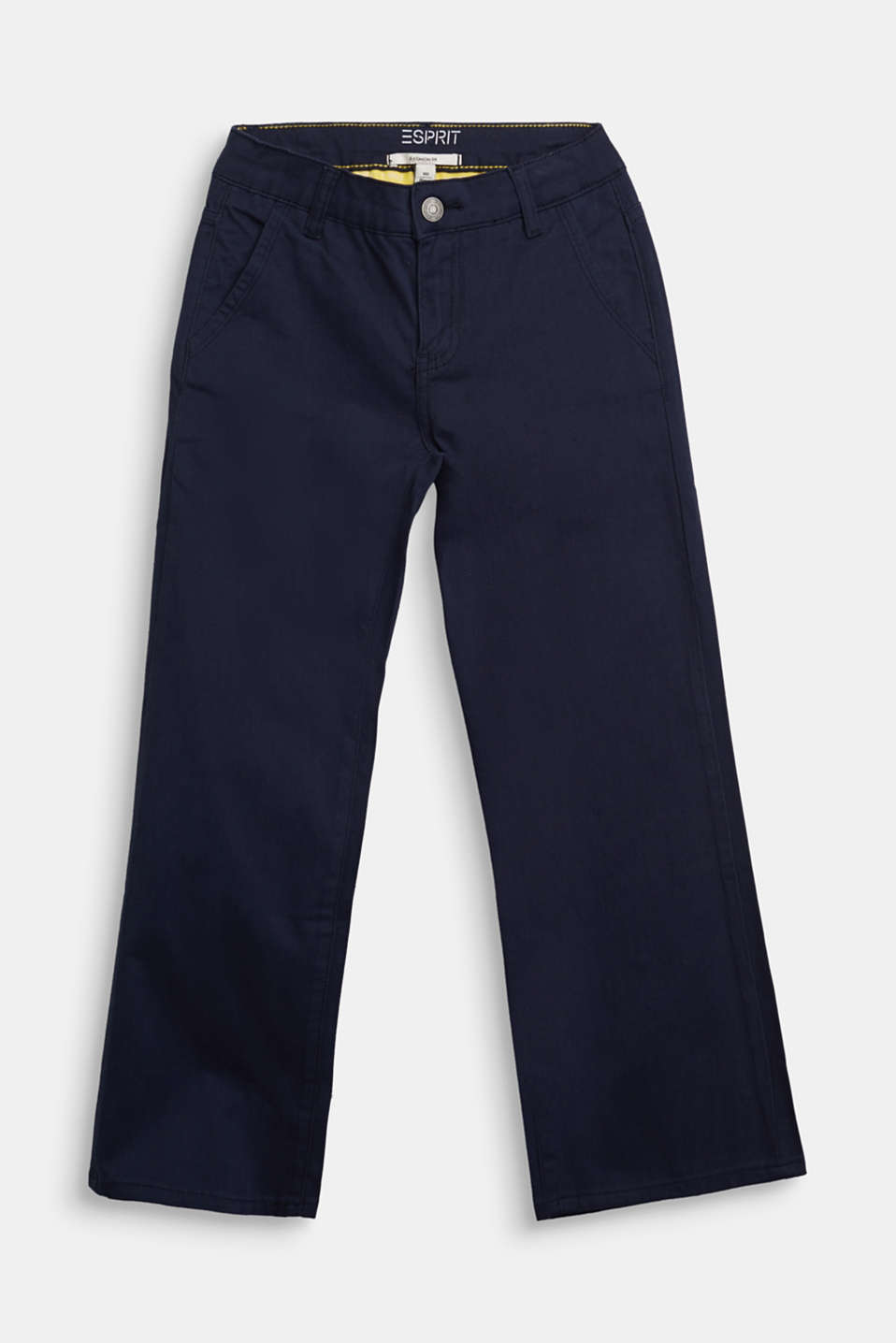 Esprit - Pantalon ample en coton stretch