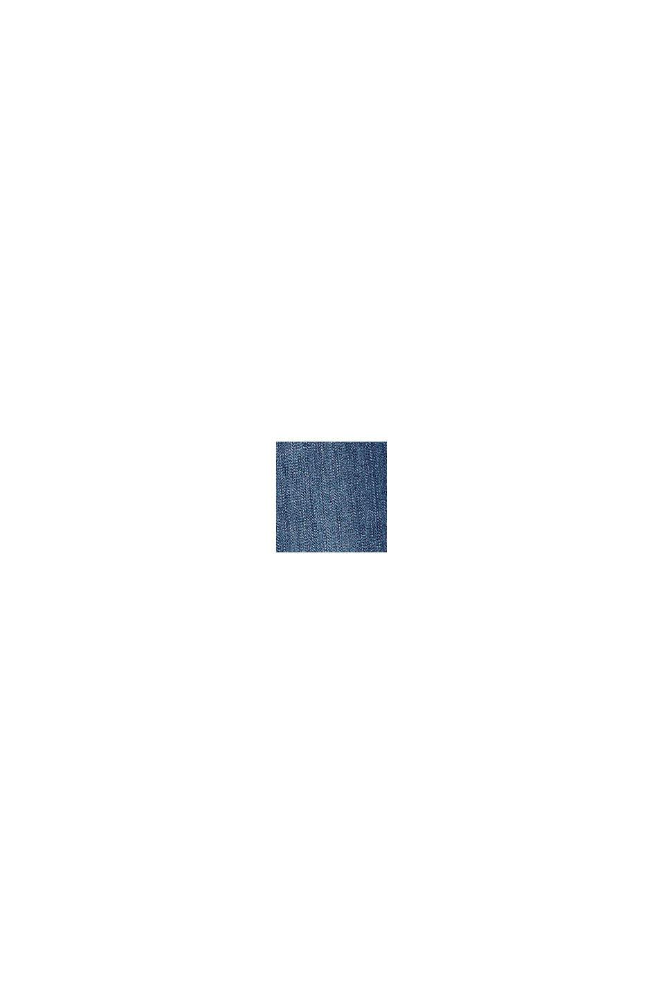 Verstellbund-Jeans mit lässigem Saum, BLUE DARK WASHED, swatch
