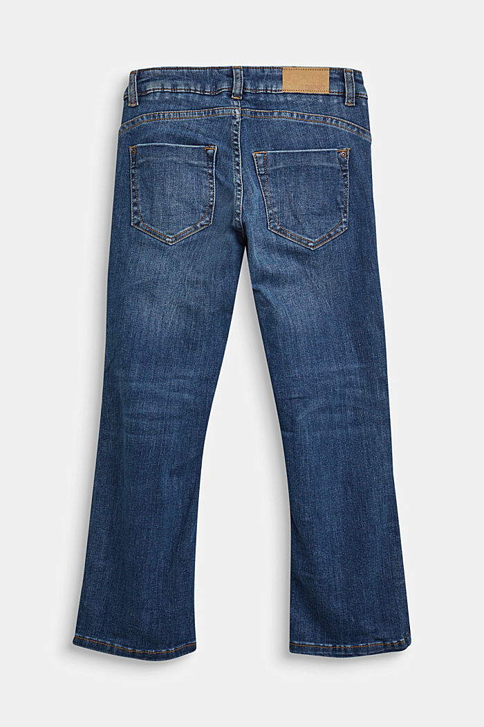 Jeans with a button fly and adjustable waistband, BLUE MEDIUM WASHED, detail image number 1