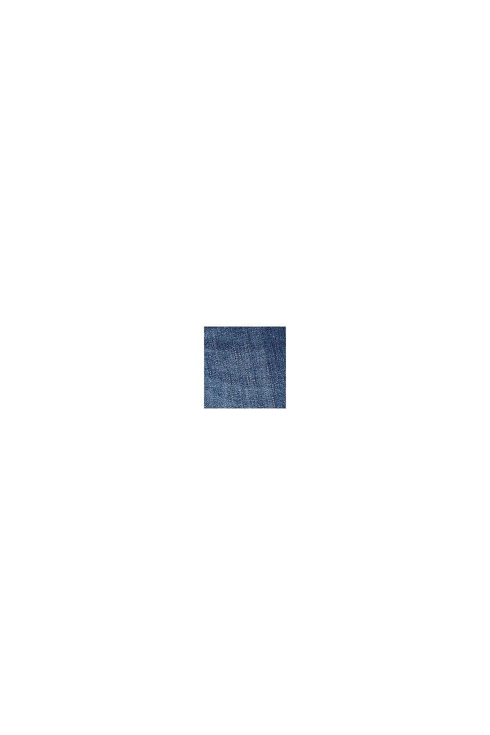 Jeans med knapstolpe og regulerbar livvidde, BLUE MEDIUM WASHED, swatch