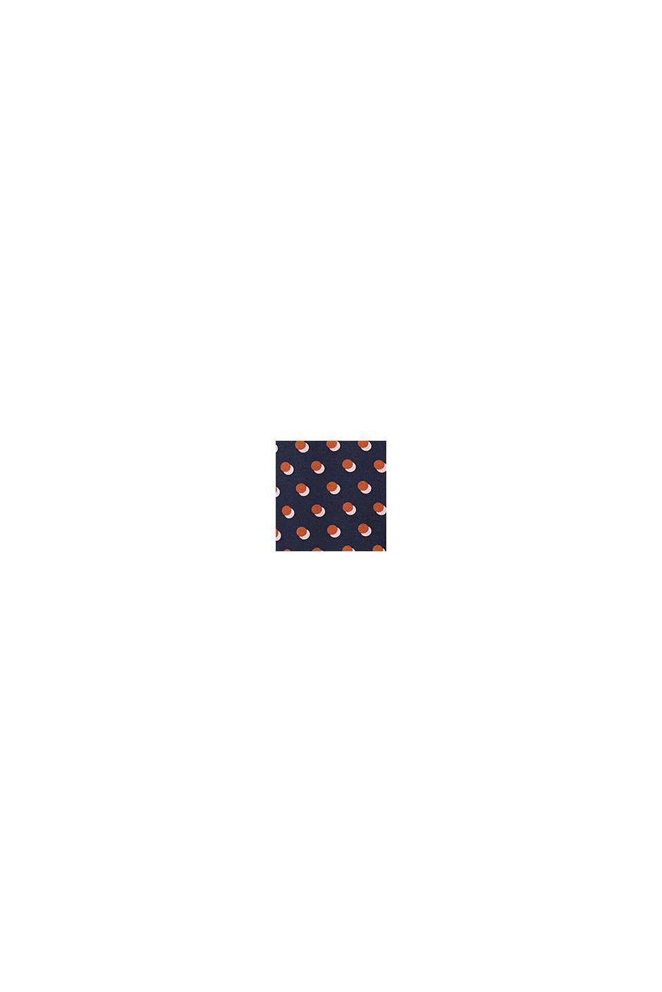 Print-Kleid mit Zipfelsaum, NAVY, swatch