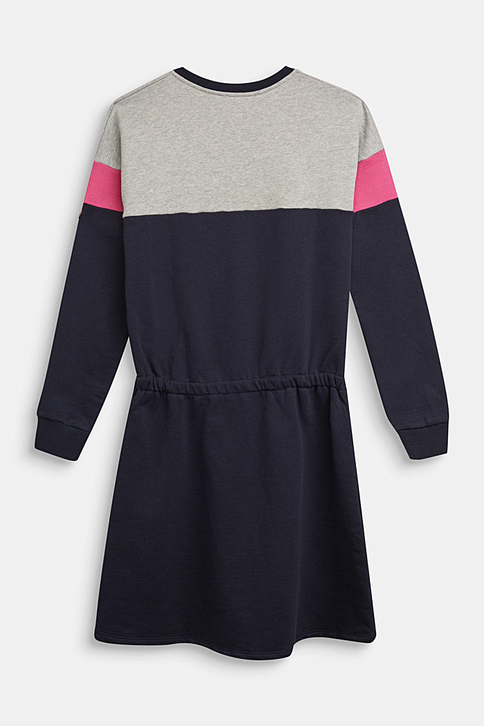 sweatshirt dress in 100% cotton
