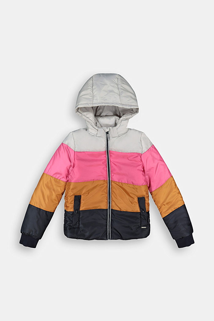 Quilted jacket in a colour block