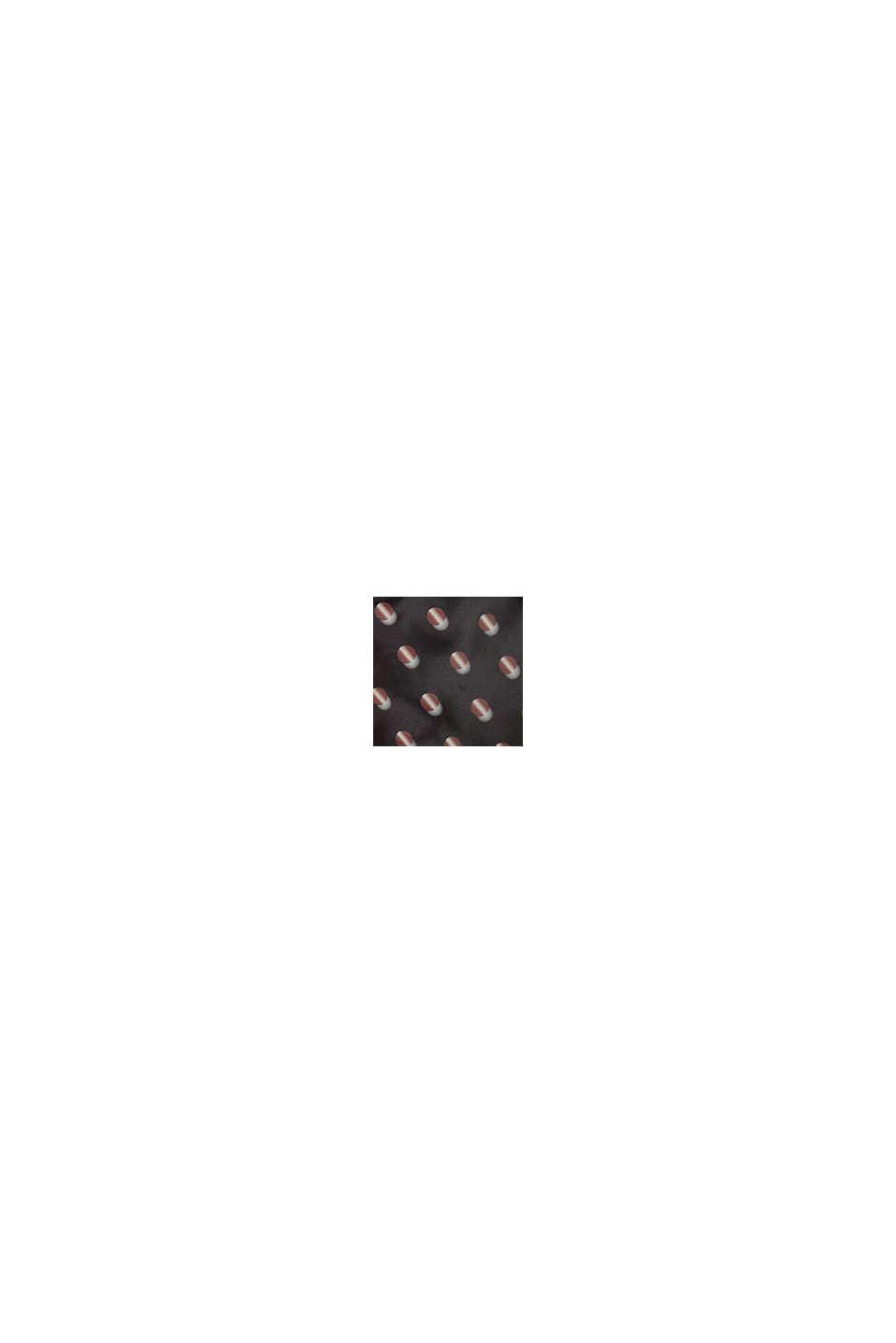Mönstrad quiltad jacka med fleecefoder, BLACK, swatch