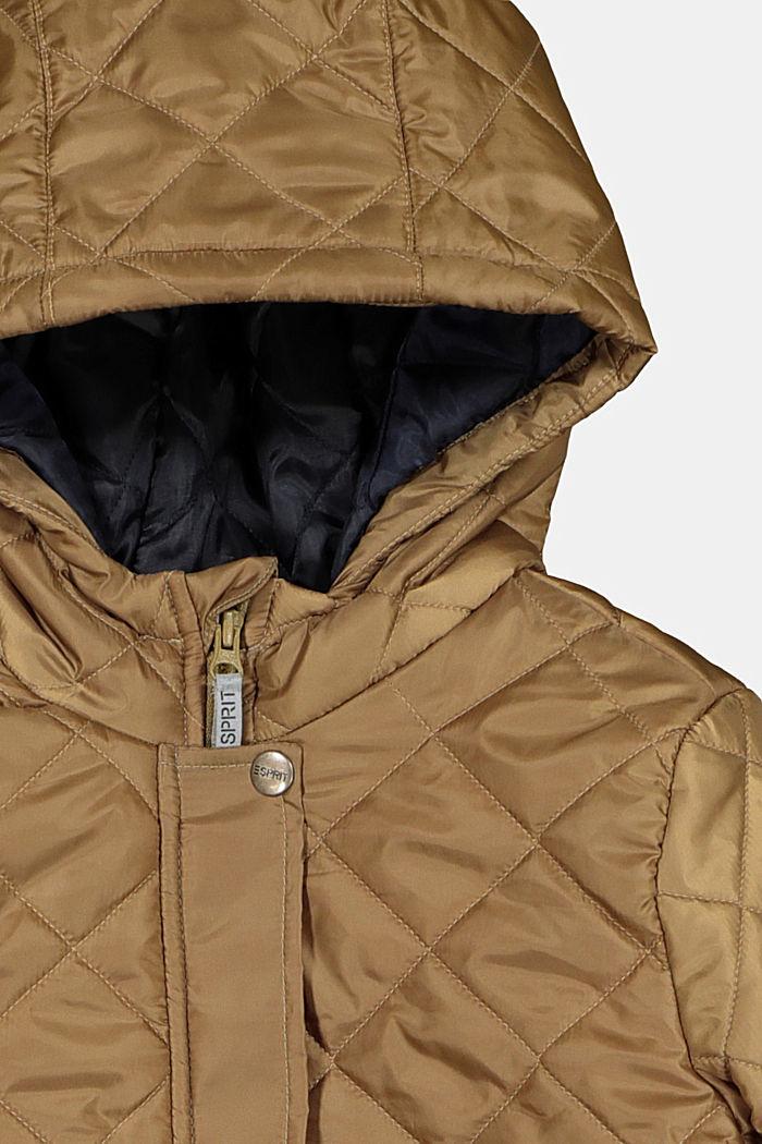 Gewatteerde mantel met capuchon en reflecterende details, OLIVE, detail image number 2