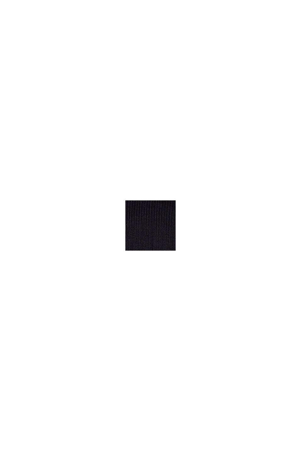 Rippstrick-Mütze aus 100% Baumwolle, NAVY, swatch
