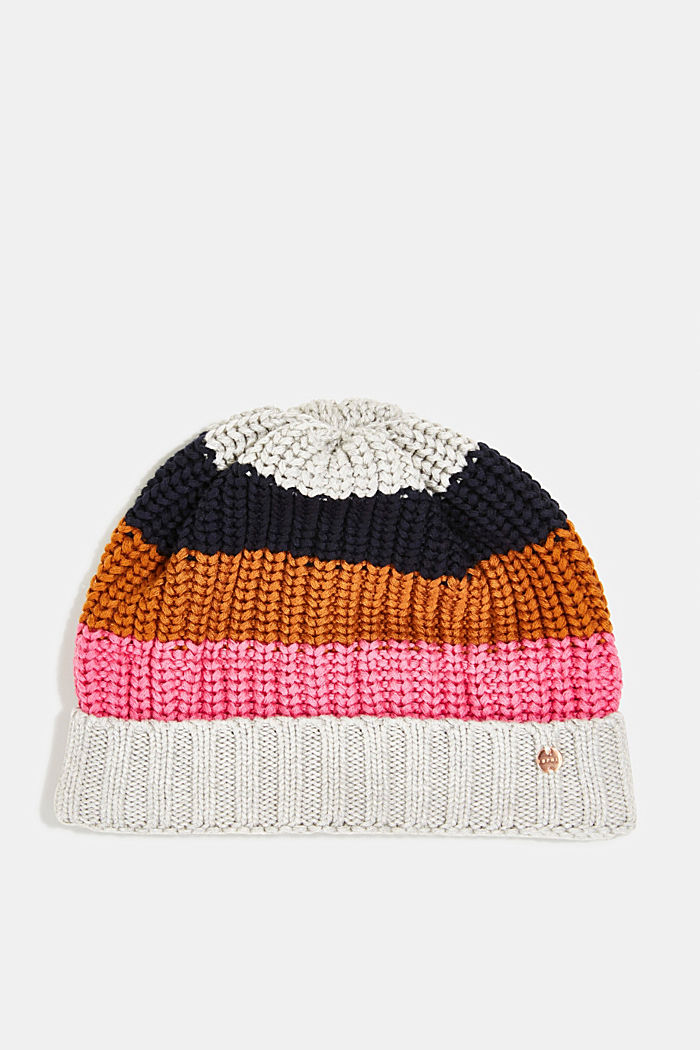 Beanie made of blended cotton, NAVY, detail image number 0