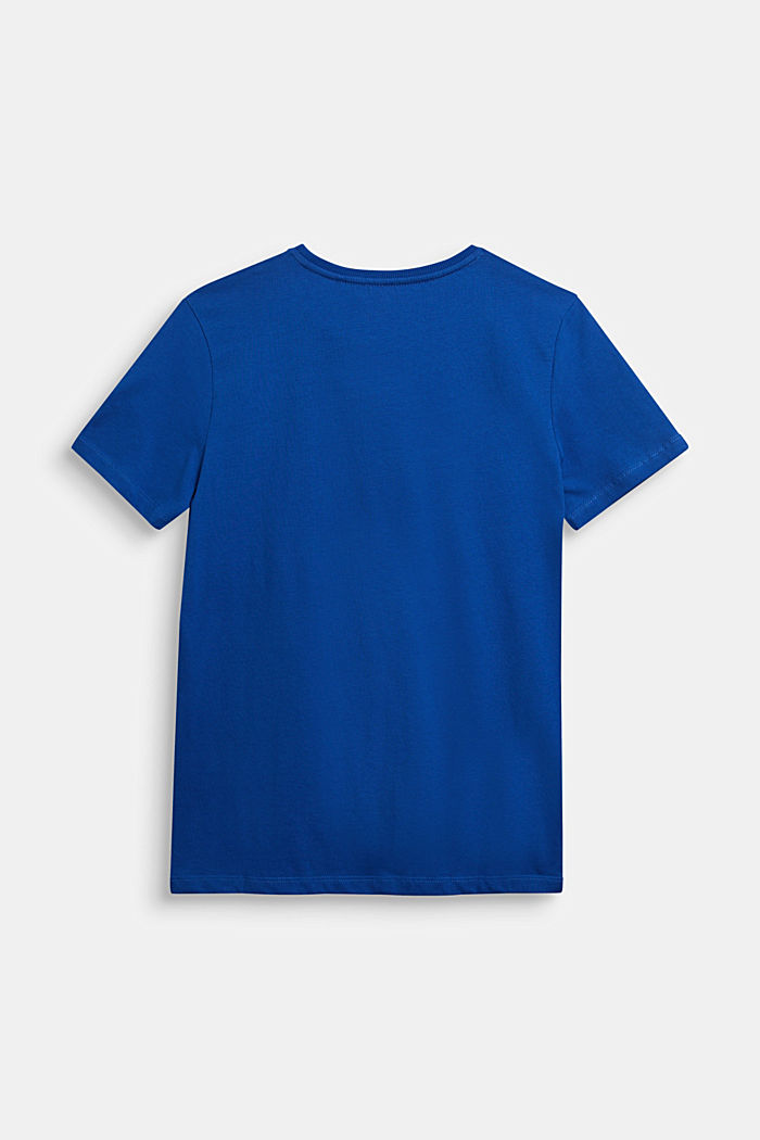 Jersey T-shirt in 100% cotton, BRIGHT BLUE, detail image number 1