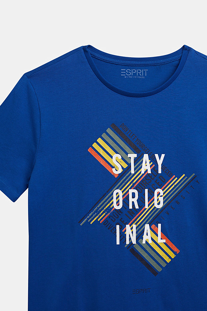Jersey T-shirt in 100% cotton, BRIGHT BLUE, detail image number 2