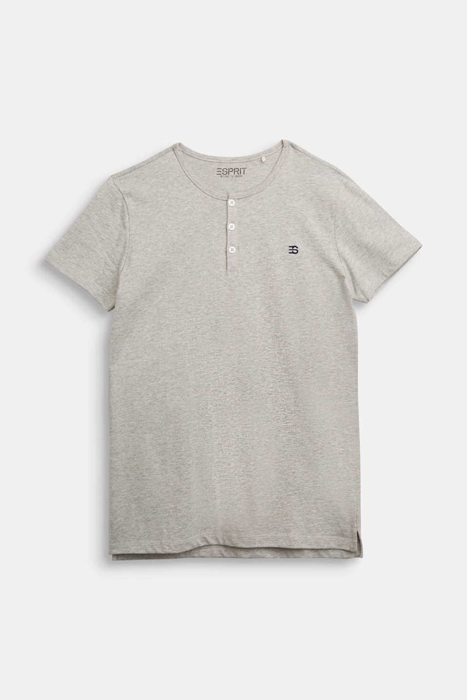 Esprit - Henley T-shirt made of 100% cotton